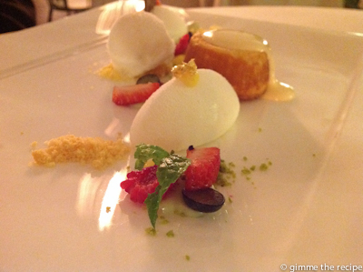 Michelin star dessert Sorrento