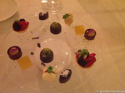 Petit fours at Excelsior Vittoria