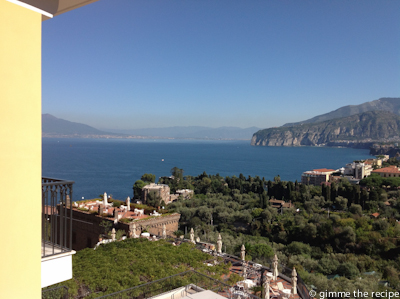 view from hotel capodimonte