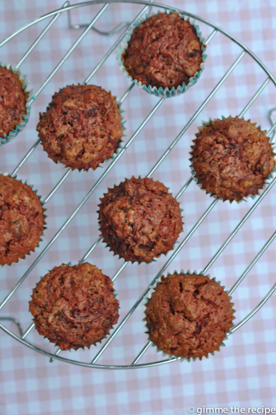 Naked muffins from overhead