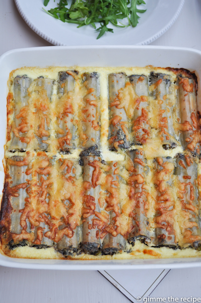 cannelloni cooked in dish
