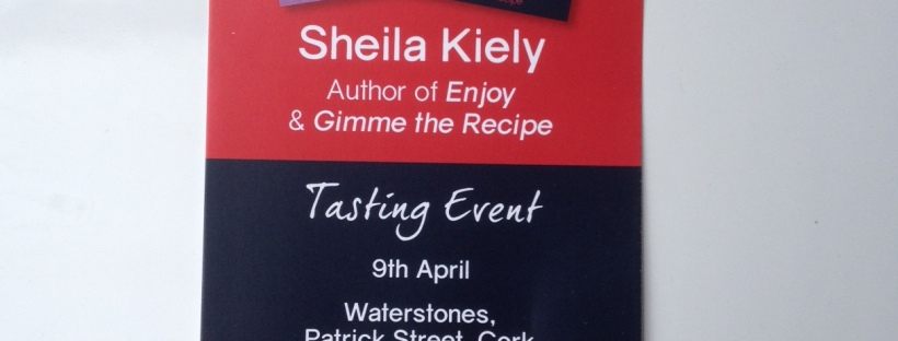 book signing of Enjoy! at Waterstones Cork 9th April 2016
