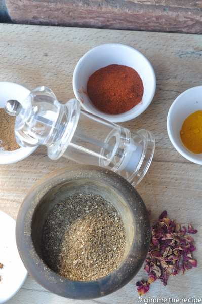 Ground toasted spices for ras el hanout