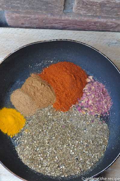 Spices for Ras El Hanout in Pan