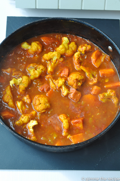 Cauliflower and Sweet Potato Curry