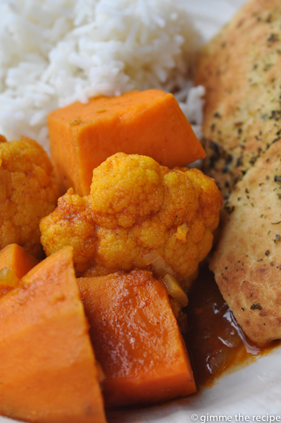 Cauliflower and Sweet Potato