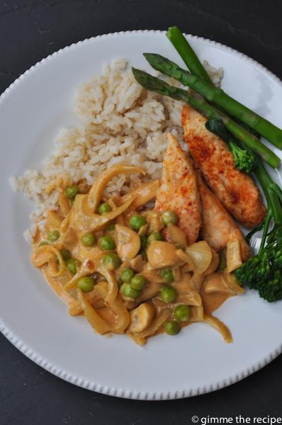 Stroganoff with chicken