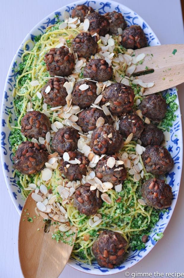 Platter Black Eye Bean Meatballs