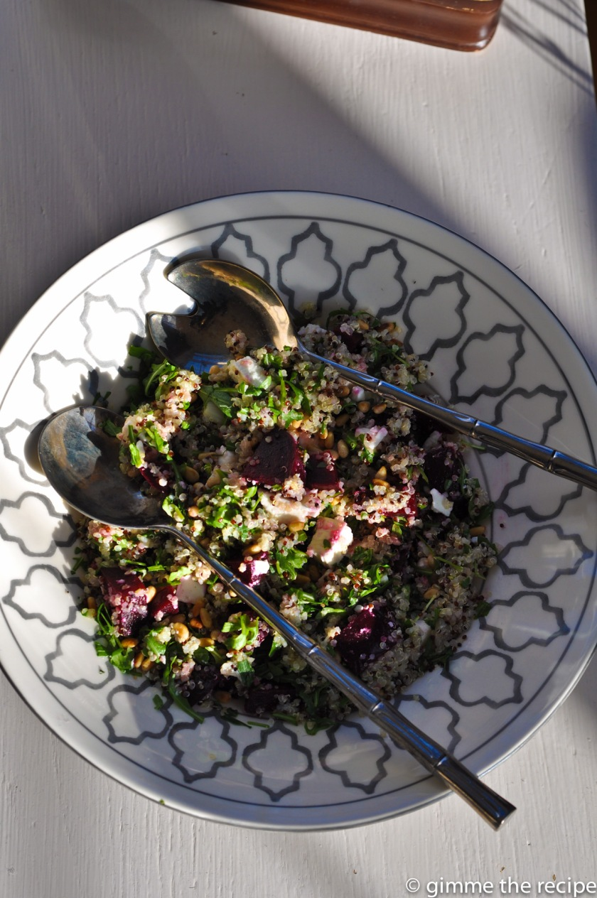 quinoa with feta and beetroot