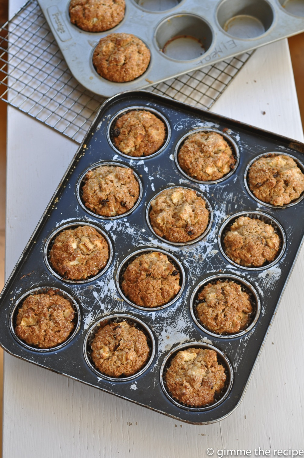 tray of breakfast muffins