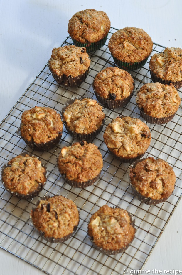 Breakfast muffins on wire tray