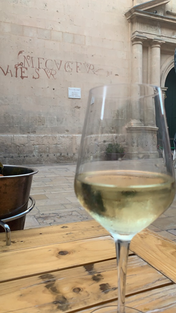 White Wine at La Piazza